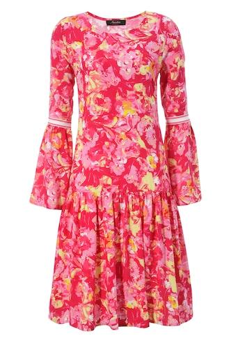 Aniston CASUAL Sommerkleid, mit Tape an den langen Trompetenärmeln - NEUE KOLLEKTION kaufen