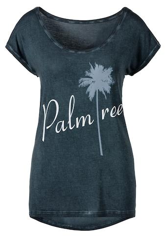 """Beachtime T-Shirt, mit Sprüche Frontdruck """"Palmtree"""" kaufen"""