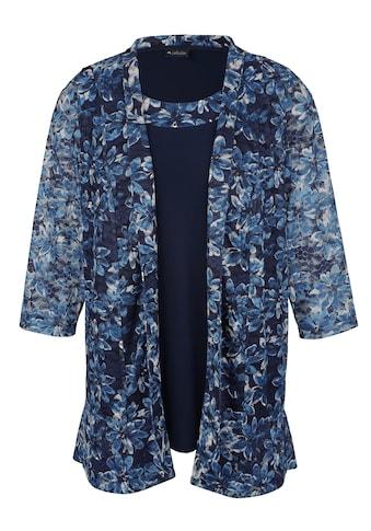 m. collection Set: Top/Blazer aus floral bedruckter Spitze kaufen