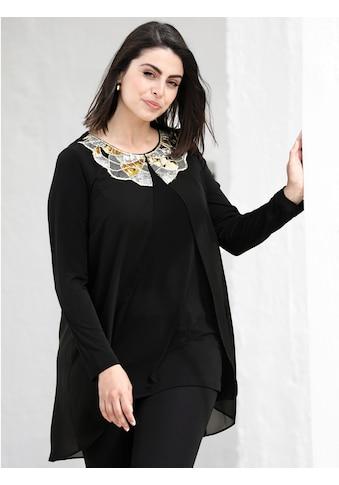 m. collection 2-in-1-Shirt, mit aufwändiger Paillettenstickerei kaufen