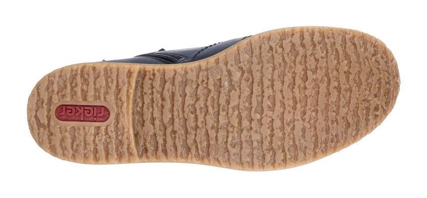 rieker -  Schnürstiefelette, mit honigfarbener Laufsohle