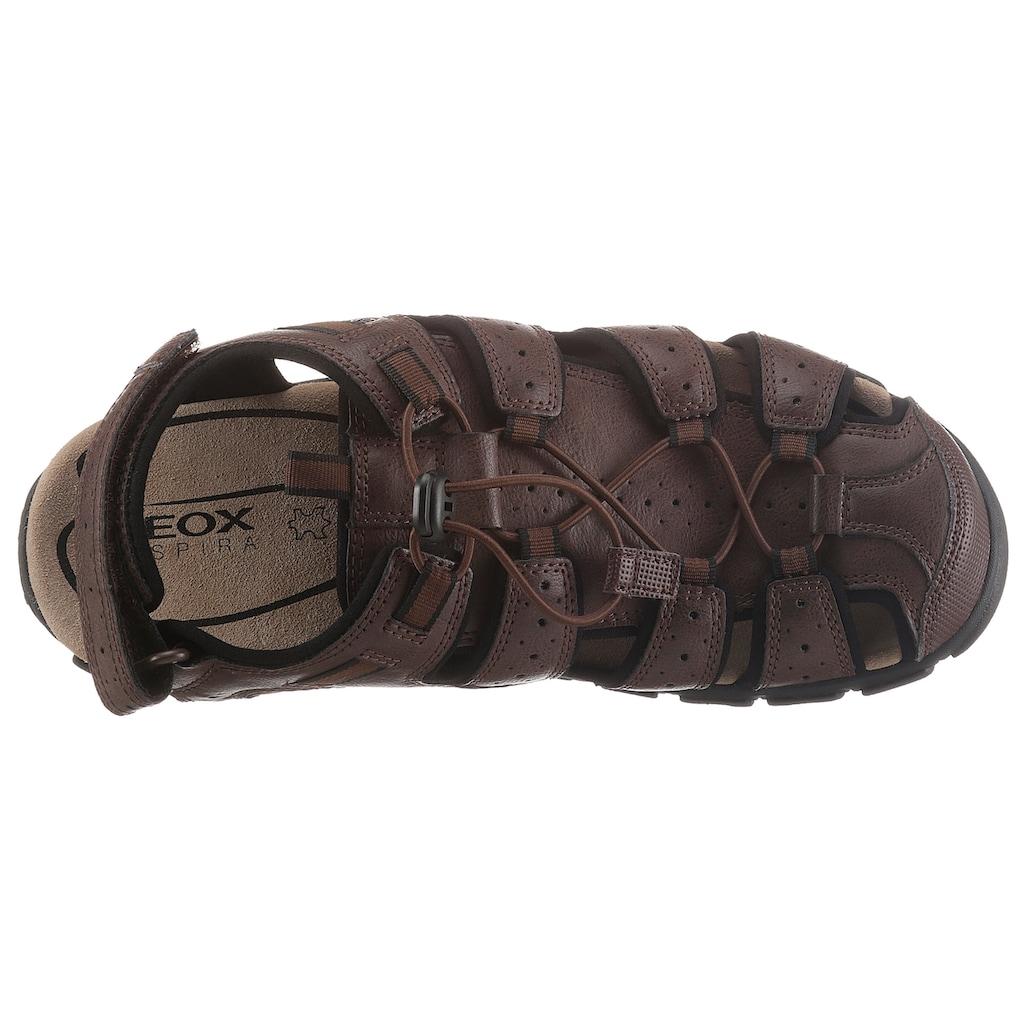 Geox Sandale, mit Klettverschluss an der Ferse