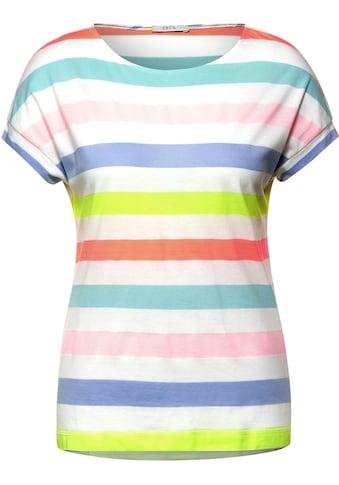 Cecil Rundhalsshirt, mit bunten Streifen kaufen