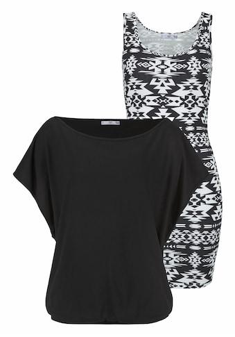 AJC Jerseykleid, (2 tlg.), in der Doppelpackung Kleid mit Shirt kaufen
