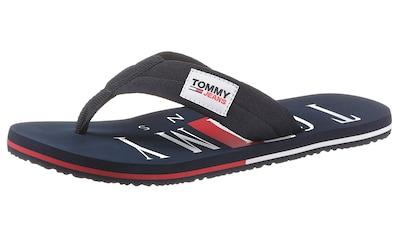 Tommy Jeans Zehentrenner »TOMMY JEANS BEACH SANDAL«, mit weichem Zehensteg kaufen