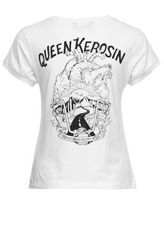 QueenKerosin Print-Shirt »More hearts per life«, mit Print auf der Brut und im Rücken kaufen