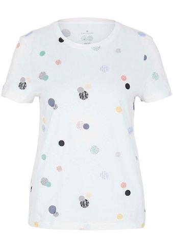 TOM TAILOR T-Shirt, mit modischen Allover-Prints kaufen