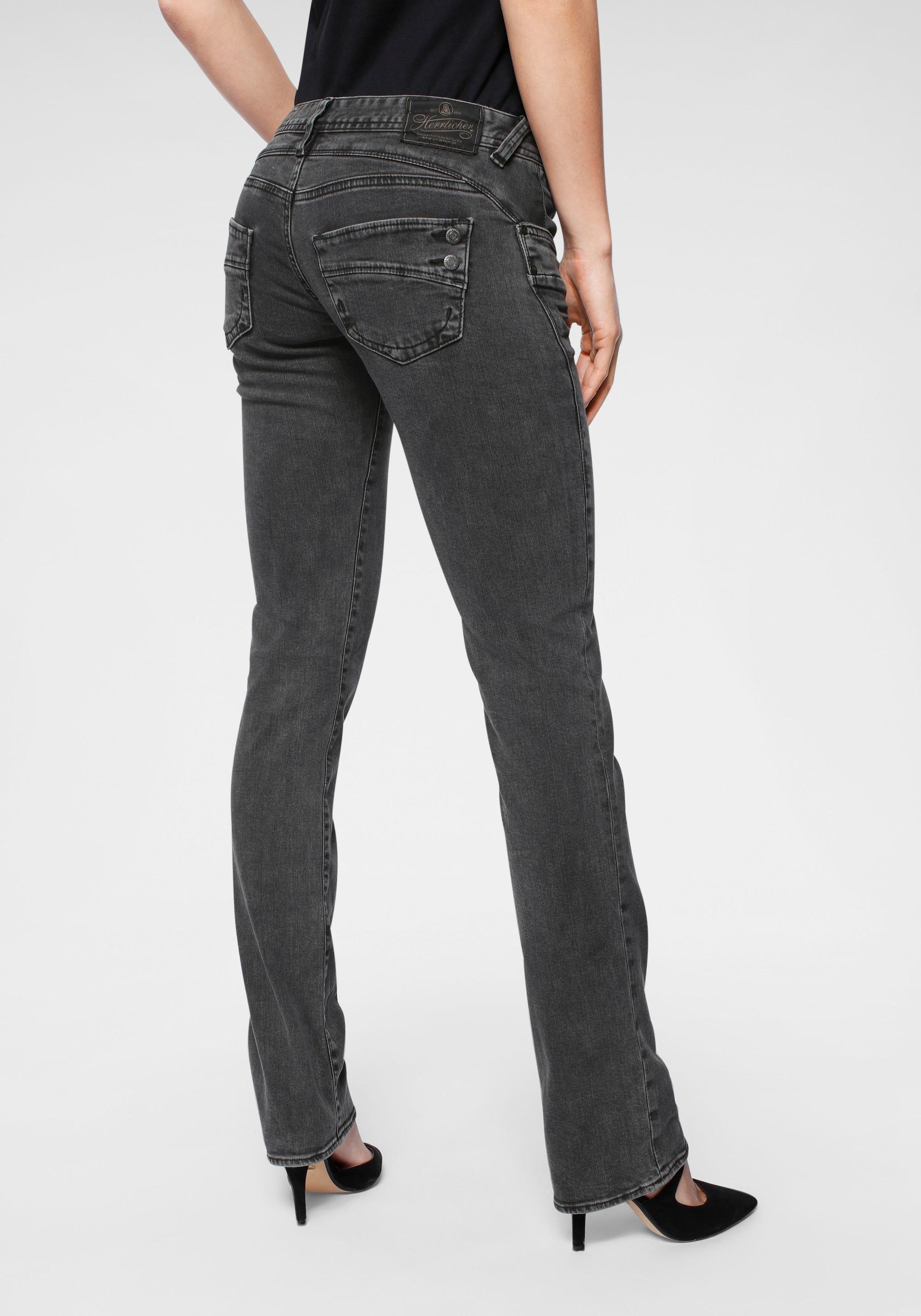 herrlicher gerade jeans piper straight black Gerade Jeans \