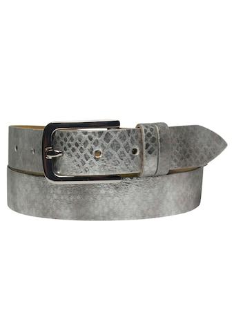AnnaMatoni Ledergürtel, Metallic-Look kaufen