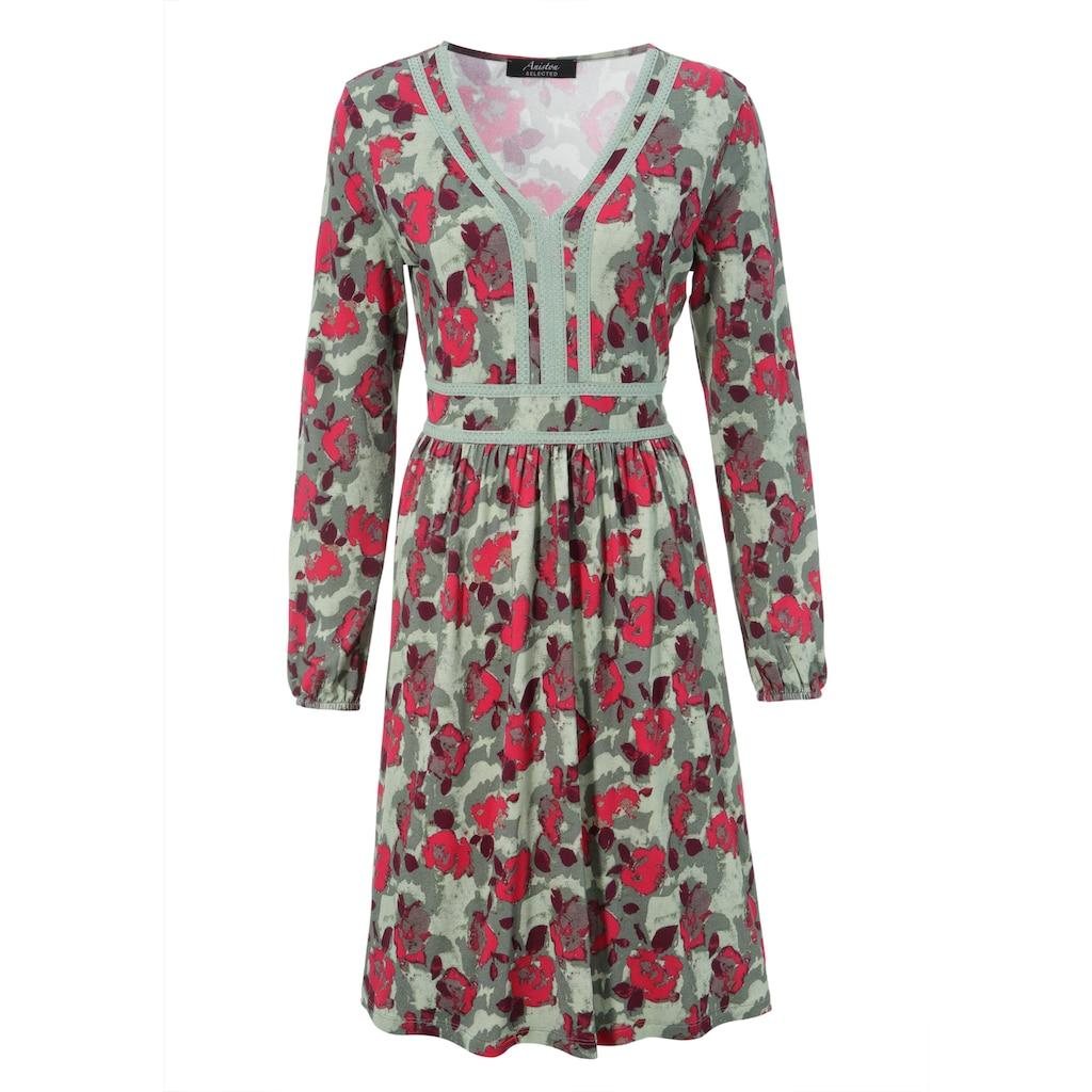 Aniston SELECTED Jerseykleid, mit Häkelverzierung - NEUE KOLLEKTION