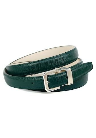 Anthoni Crown Ledergürtel, mit hochwertiger Dornschließe in dunkelgrün kaufen