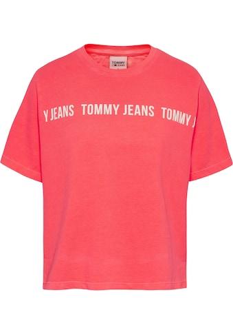 Tommy Jeans Rundhalsshirt »TJW BXY CROP TAPE SS TEE«, mit großem Tommy Jean Logo-Schriftzug kaufen