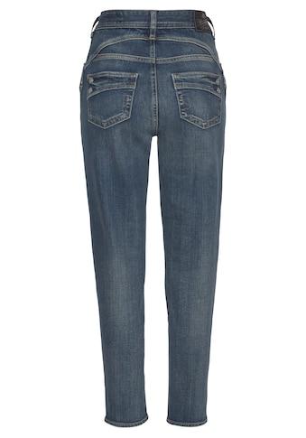 Herrlicher High-waist-Jeans »PIPER HI CONIC Recycled Denim«, Fit: Tapered kaufen