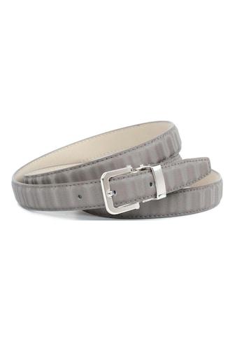 Anthoni Crown Ledergürtel, Gürtel aus innovativem Leder in 3D-Optik in grau kaufen