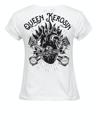 QueenKerosin Print-Shirt »QK Heart«, mit coolem Backprint kaufen