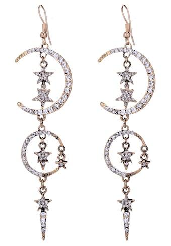 J.Jayz Paar Ohrhaken »Stern, Mond«, mit Glassteinen kaufen