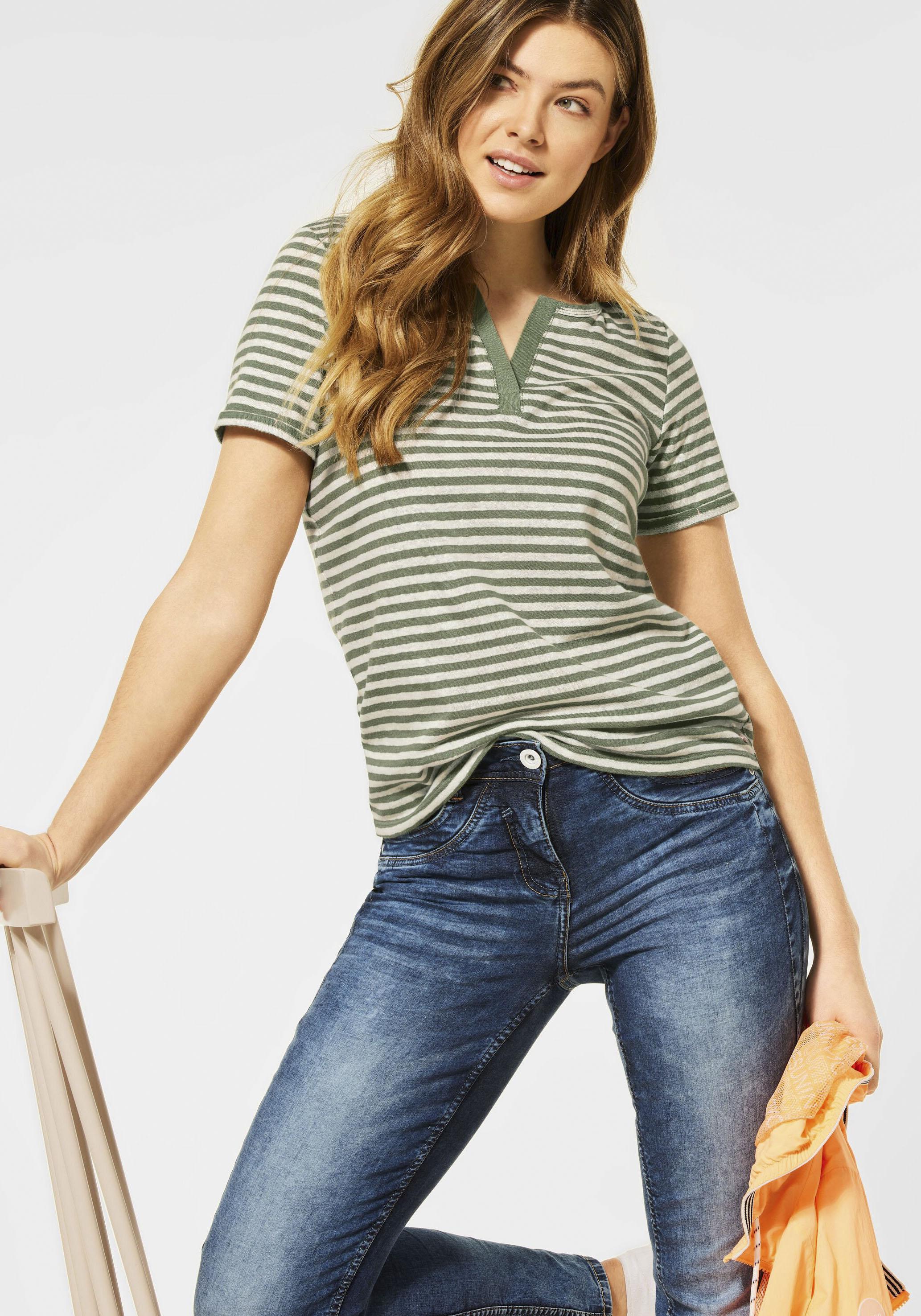 cecil -  T-Shirt Hanya, mit Streifenmuster