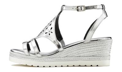 LASCANA Sandalette, mit Keilabsatz und modischem Cut-Out Muster kaufen