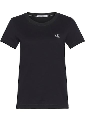 Calvin Klein Jeans T-Shirt »CK EMBROIDERY SLIM TEE«, mit gesticktem CK Logo auf der Brust kaufen