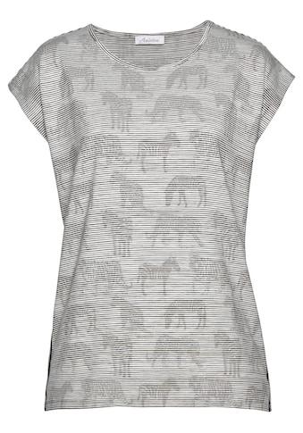 Aniston CASUAL T-Shirt, mit Zebras und Raubtieren bedruckt kaufen