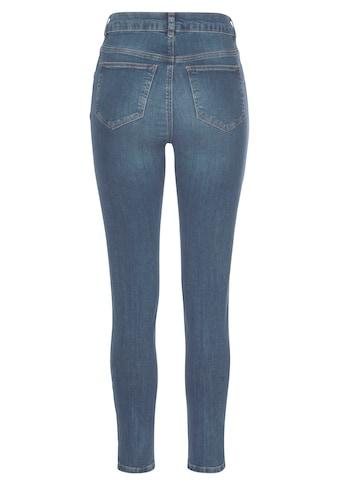 LASCANA High-waist-Jeans, mit sichtbarer Knopfleiste kaufen