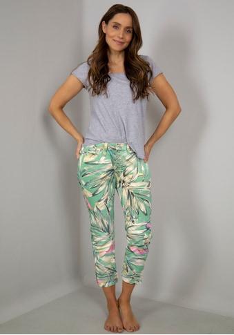 Please Jeans 3/4-Hose »P36H«, mit Palmen-Allover-Druck kaufen