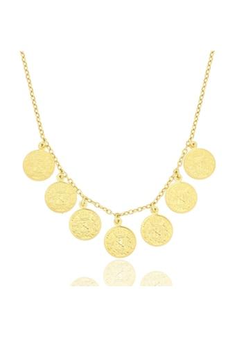 JULES & GENTS Collierkettchen »#COIN«, Ankerkette mit Münzanhängern, 925/-... kaufen