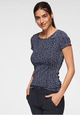KangaROOS T-Shirt, mit tollem filigranem Allover-Druck - NEUE KOLLEKTION kaufen
