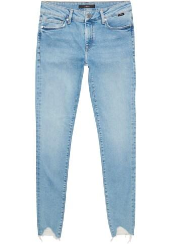 Mavi Skinny-fit-Jeans »ADRIANA-MA«, mit leicht ausgefranster Kante am Beinabschluss kaufen
