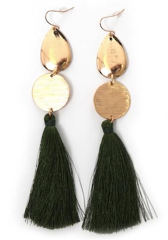 J.Jayz Paar Ohrhaken »vergoldet und mit grüne Quasten« kaufen