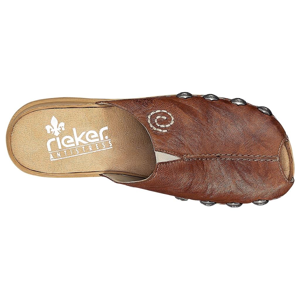 Rieker Clog, mit auffälligen Nieten