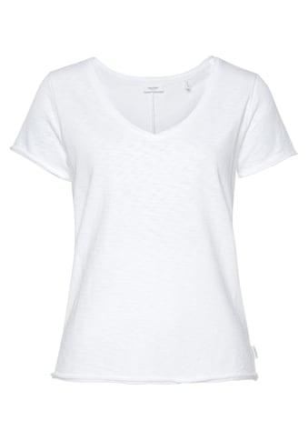 Marc O'Polo DENIM T-Shirt, mit abgerundetem V-Neck kaufen