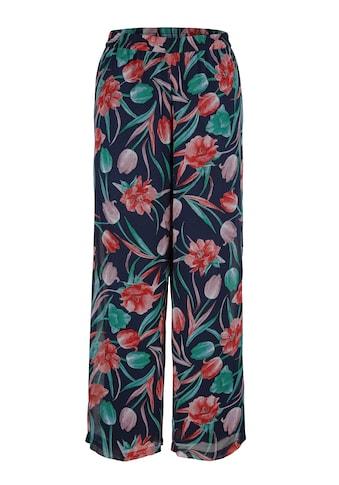 MIAMODA Schlupfhose, mit hübschem Blumendruck kaufen