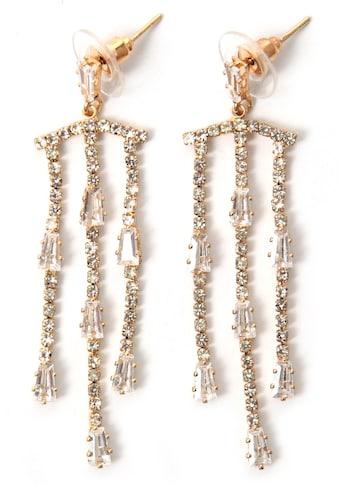 J.Jayz Paar Ohrstecker »auffallend, trendig, glitzernd«, mit Glas- und Strasssteinen kaufen