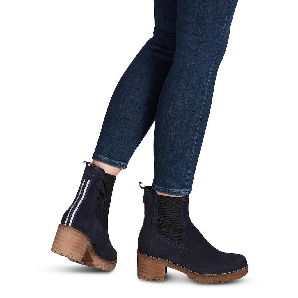 Tamaris Stiefelette »Panna«, mit trendigen Streifenbesatz