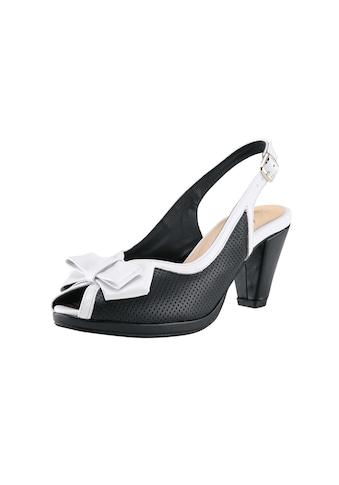 Sandalette mit Perforierung und Zierschleife kaufen