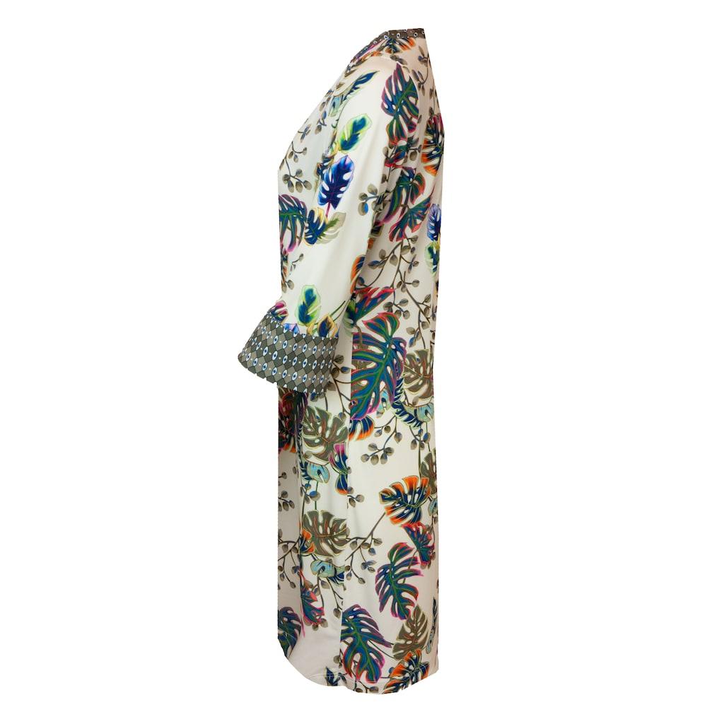 bianca Jerseykleid »DANILO«, mit 3/4-Arm, Mustermix und dekorativem Ausschnitt
