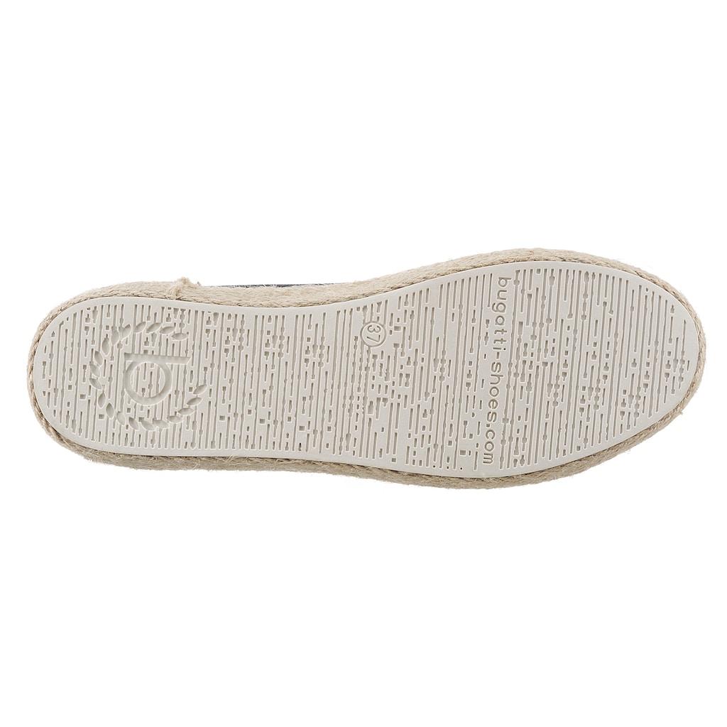 bugatti Sneaker »EVE«, mit geflochtenem Juterand