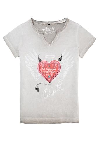 Hangowear Trachtenshirt, mit coolem Druck kaufen
