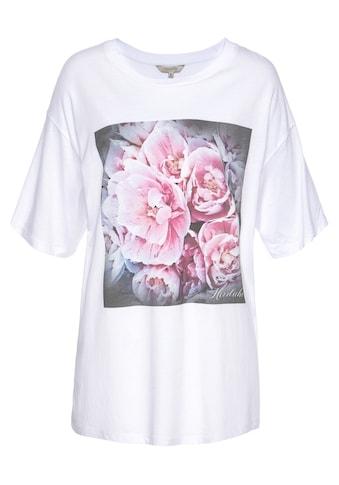Herrlicher T-Shirt »SANNE«, mit romantischem Rosen-Foto-Print kaufen
