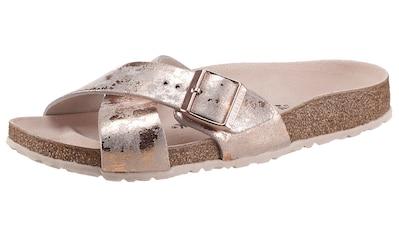 Birkenstock Pantolette »SIENA Vintage metallic«, im Metallic-Look und schmaler Schuhweite kaufen