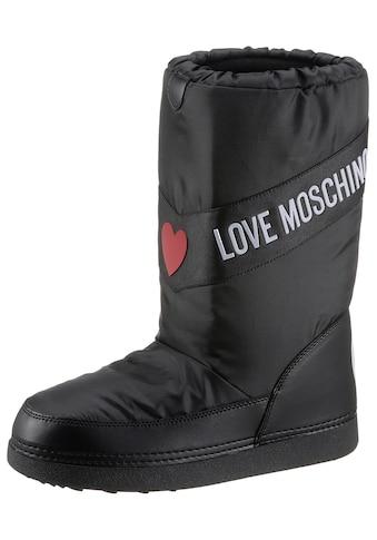 LOVE MOSCHINO Winterboots, mit Kontrastbesatz kaufen