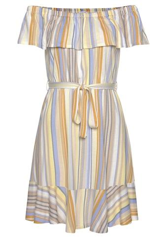 Venice Beach Strandkleid, (mit Bindegürtel), mit Streifenprint kaufen