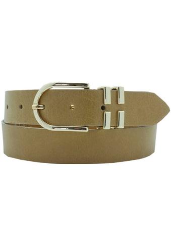 AnnaMatoni Ledergürtel, Mit offener doppelter Gürtelschlaufe, Schnalle in goldfarben kaufen
