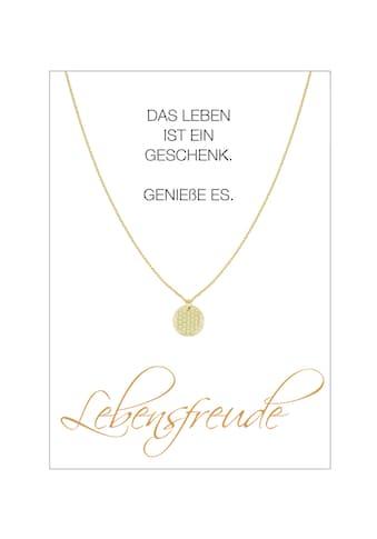 HERZ-KARTE Silberkette »Lebensfreude«, gelbvergoldet mit Blume des Lebens, 925/-... kaufen