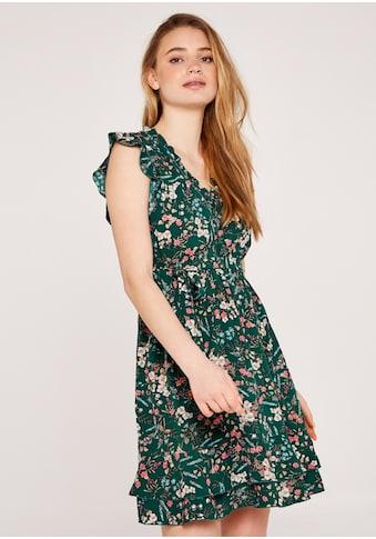 Apricot Druckkleid »Botanical Ditsy Spray Tie Dress«, (mit Bindegürtel), mit Rüschen kaufen