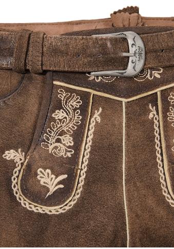 Marjo Trachtenlederhose kurz Damen im Used Look kaufen
