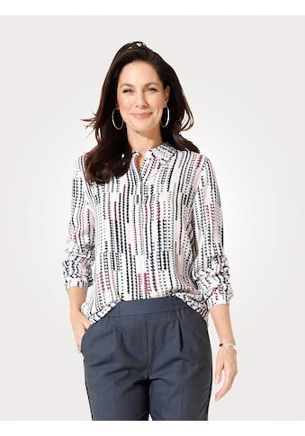 Mona Hemdbluse, im grafischen Druckdessin kaufen