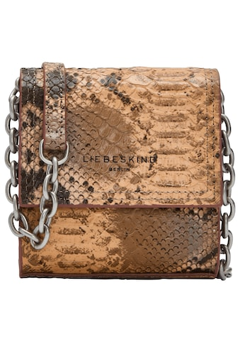 Liebeskind Berlin Mini Bag »Valentine's Special Snake Crossbody XXS«, in Animal Look mit Kettendetails kaufen