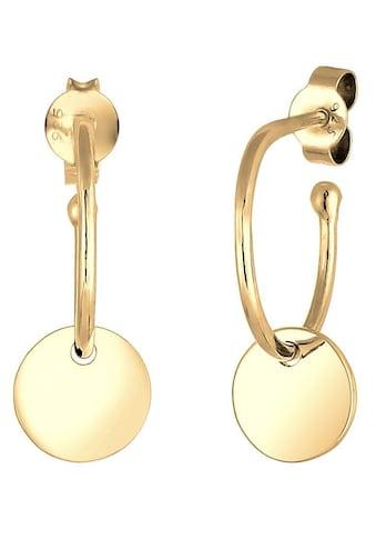 Elli Paar Creolen »Hänger Kreis Creole Geo Plättchen, 0311772317, 0301763017« kaufen